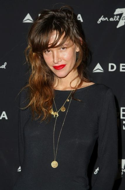 Paz de la Huerta at the 7 For All Mankind and Gen Arts 7 Fresh Faces Sundance Party.