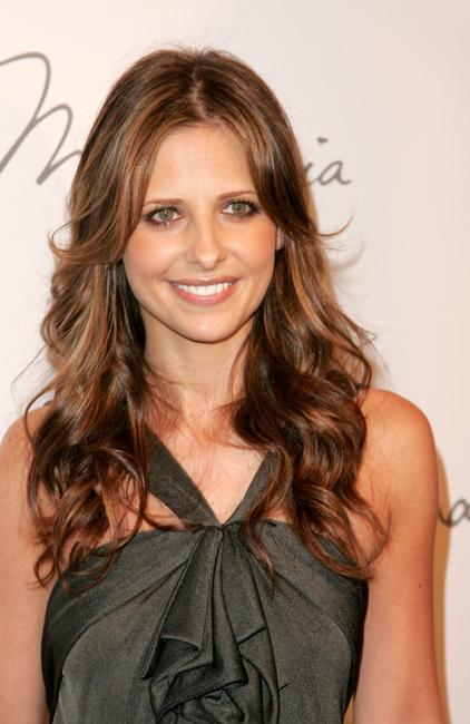 Sarah Michelle Gellar at the Max Azria Collection Spring 2007 fashion show during Olympus Fashion Week.