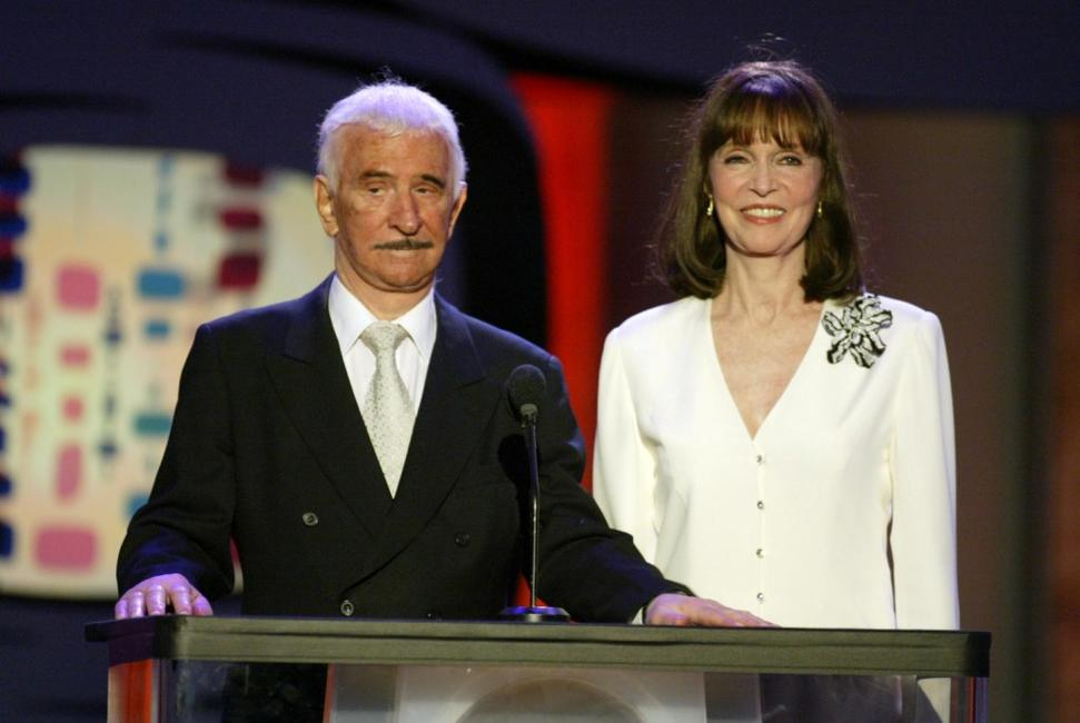 Don Adams and Barbara Feldon at the TV Land Awards 2003.
