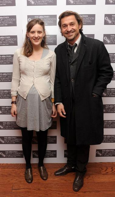 Mia Hansen-Love and Louis-Do de Lencquesaing at the premiere of