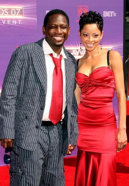 Guy Torry and guest at the 2007 BET Awards.