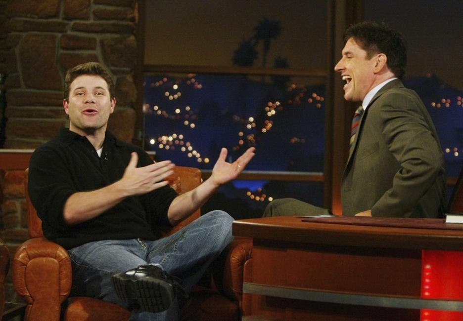 Sean Astin and Craig Ferguson at the The Late Late Show at CBSTelevision City.