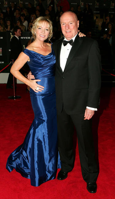 Rebecca Gibney and Ray Meagher at the 52nd TV Week Logie Awards in Australia.