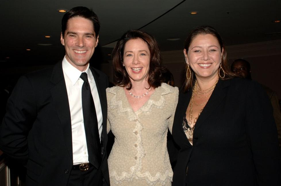 Thomas Gibson, Guest and Camryn Manheim at the VIP Reception during the 14th Annual Diversity Awards Gala.