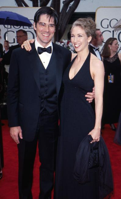 Thomas Gibson and his wife at the 57th Annual Golden Globe Awards.
