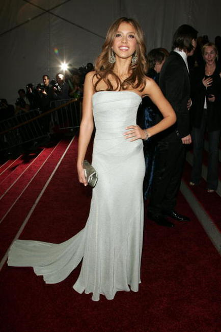 Jessica Alba at the Metropolitan Museum of Art Costume Institute Benefit Gala in N.Y.