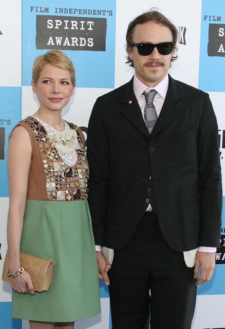 Actors Michelle Williams and Heath Ledger at the 22nd Annual Film Independent Spirit Awards in Santa Monica, California.