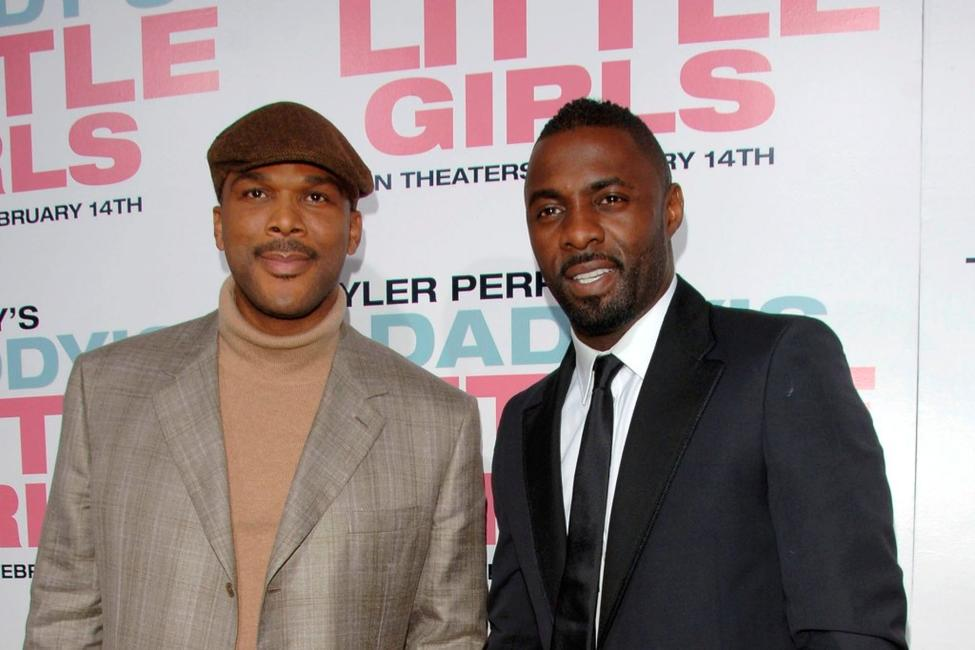 Tyler Perry and Idris Elba at the premiere of