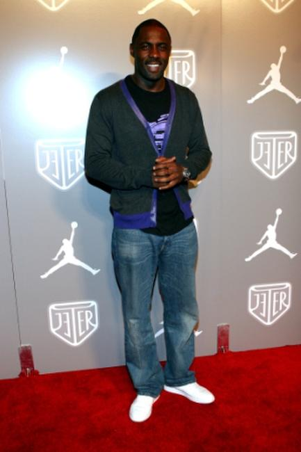 Idris Elba at the Jordan Brand's party celebrating Derek Jeter and New York City during the 2008 MLB All-Star Week.