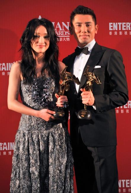 Zhou Xun and Masahiro Motoki at the Asian Film Awards 2009.