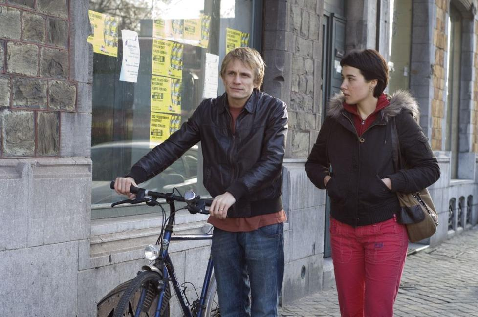Jeremie Renier as Claudy and Arta Dobroshi as Lorna in