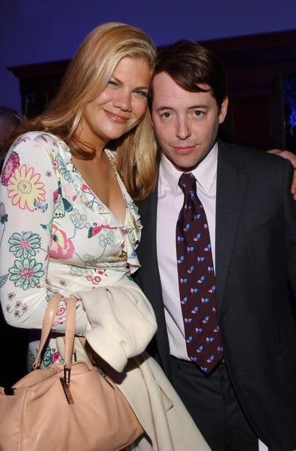 Kristen Johnston and Matthew Broderick at the