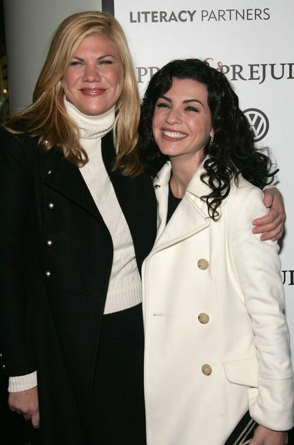 Kristen Johnston and Julianna Margulies at the premiere of