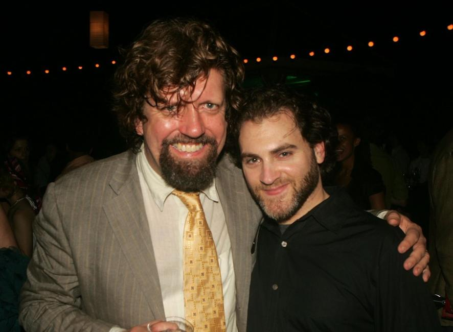 Oskar Eustis and Michael Stuhlbarg at the after party of the opening night of