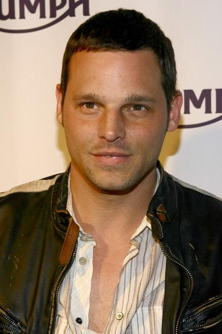 Justin Chambers at the grand opening of the Triumph NYC store.