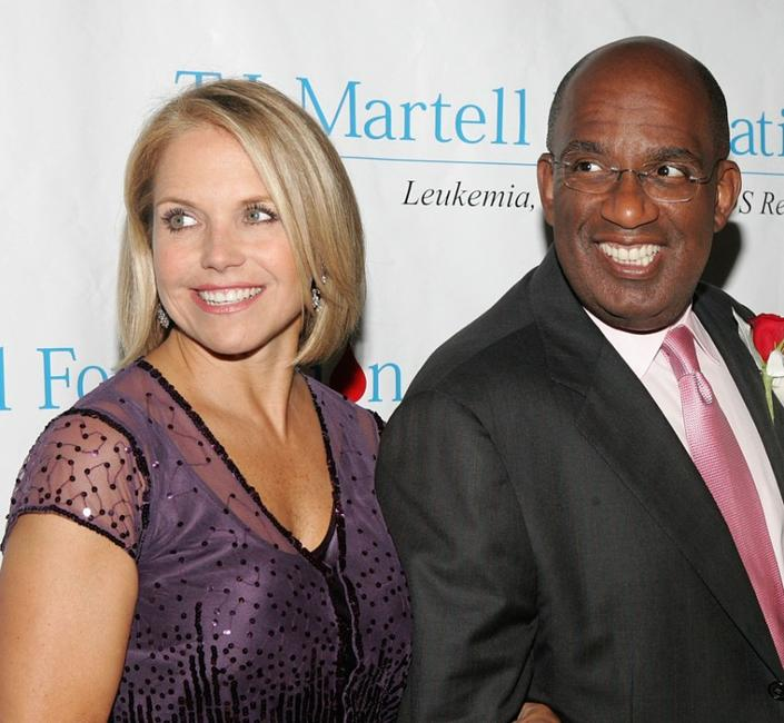 Katie Couric and Al Roker at the T.J. Martell Foundation 30th Anniversary Gala.