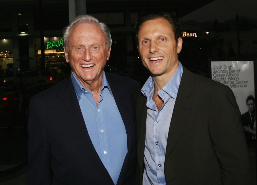 Tony Goldwyn and his father Samuel Goldwyn, Jr at the premiere of