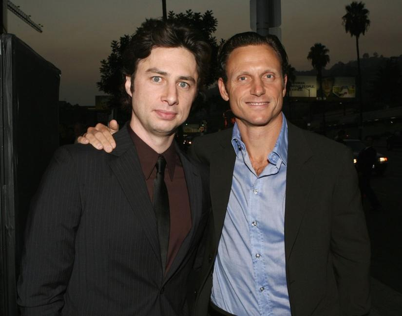 Tony Goldwyn and Zach Braff at the premiere of