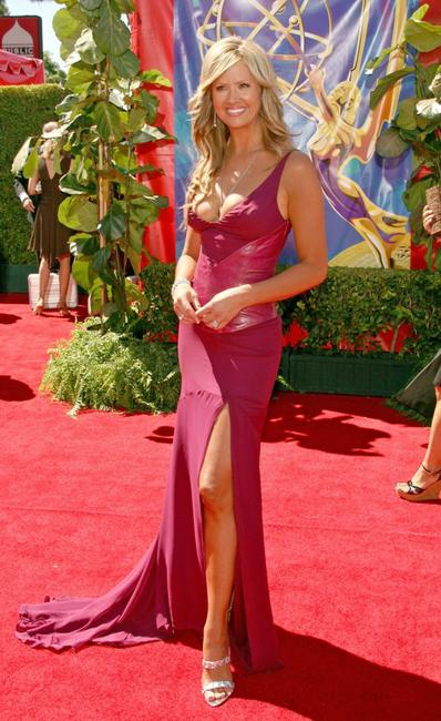 Nancy O'Dell at the 58th Annual Primetime Emmy Awards.