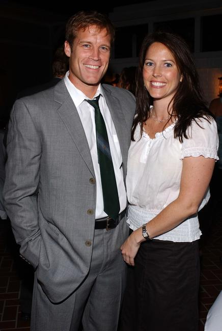 Mark Valley and Bridget Hegarty at the Twentieth Century Fox Television's New Season Party.