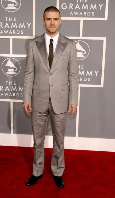 Justin Timberlake at the 49th Annual Grammy Awards.