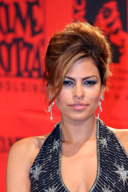 Eva Mendes at the 70 years of Cinecitta Studios Party.