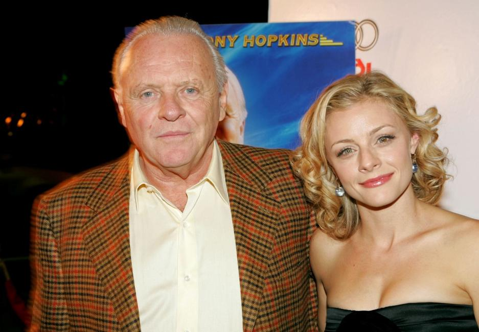 Anthony Hopkins and Jessica Cauffiel at the screening of