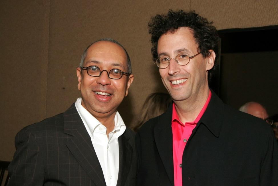 Director George C.Wolfe and Tony Kushner at the New Dramatists 56th Annual Benefit luncheon.