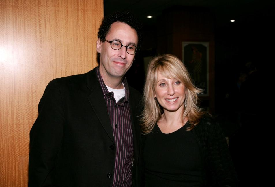 Tony Kushner and Stacey Snider at the private screening of