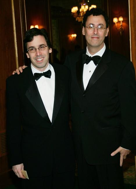 Mark Harris and Tony Kushner at the 57th Annual Writers Guild Awards.