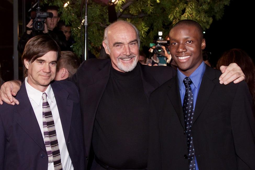 Director Gus Van Sant, Sean Connery and Rob Brown at the premiere of
