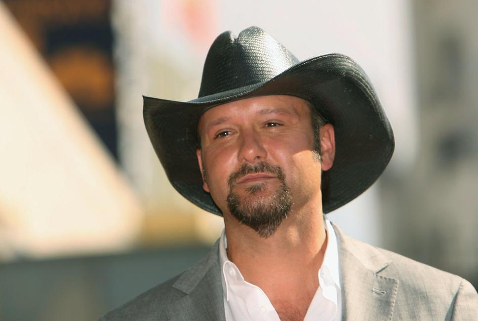 Tim McGraw at the Hollywood Walk of Fame.