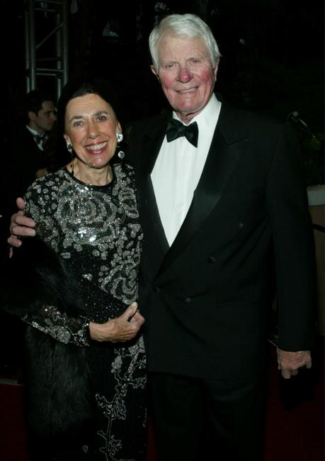 Peter Graves and his wife at the Martin Scorsese's Film Foundation and Norby Walters 12th Annual Night of 100 Stars Oscar Gala.