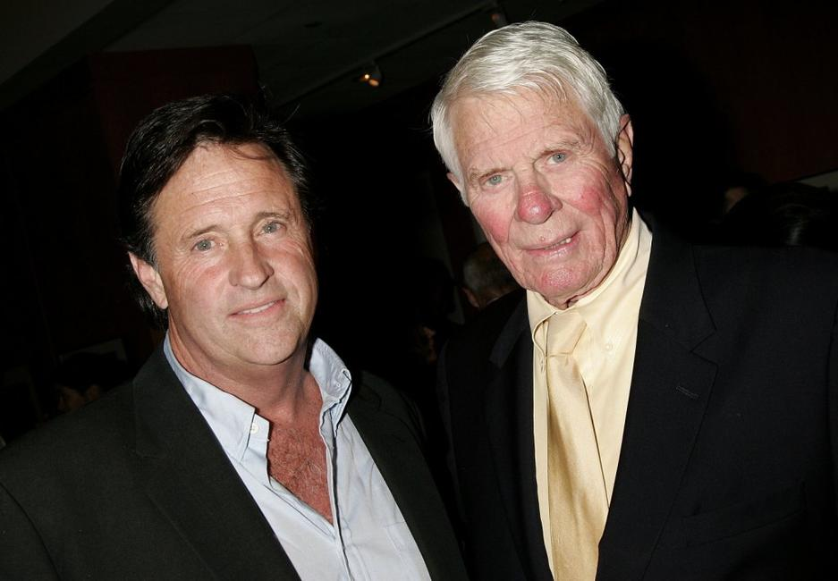 Peter Graves and Robert Hayes at the cast crew reunion and screening of