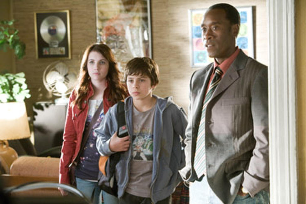 Emma Roberts, Jake T. Austin and Don Cheadle in