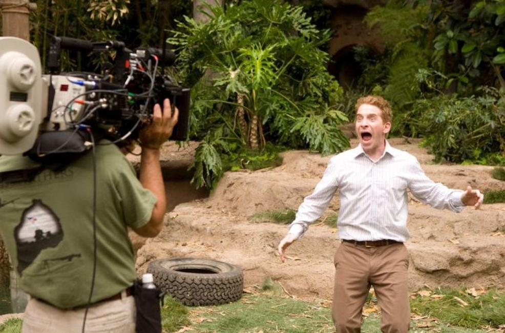 Seth Green on the set of