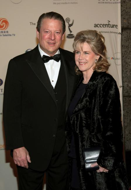 Al Gore and wife Tipper Gore at the 35th International Emmy Awards Gala.