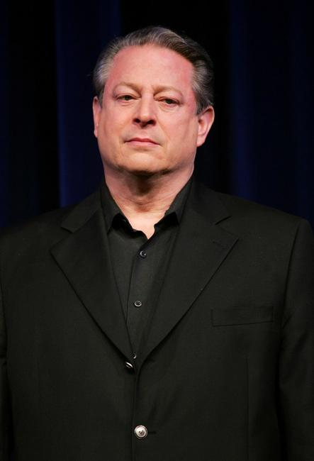 Al Gore at the press conference to announce the