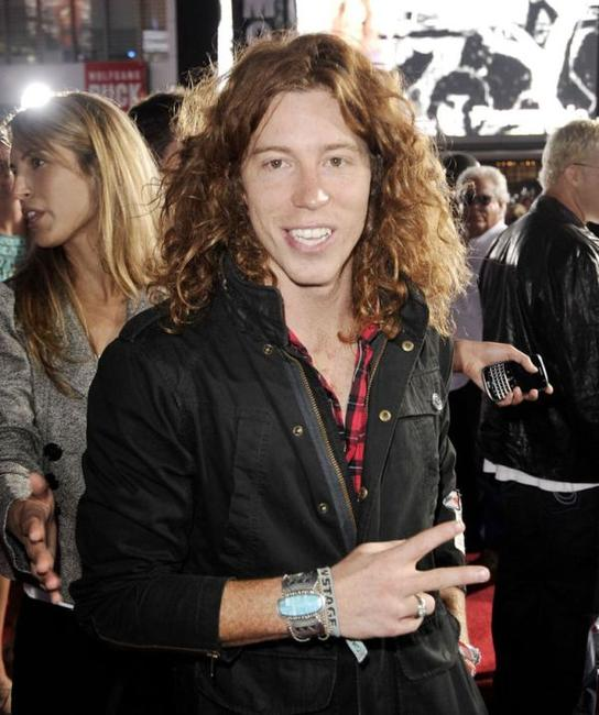 Shaun White at the premiere of