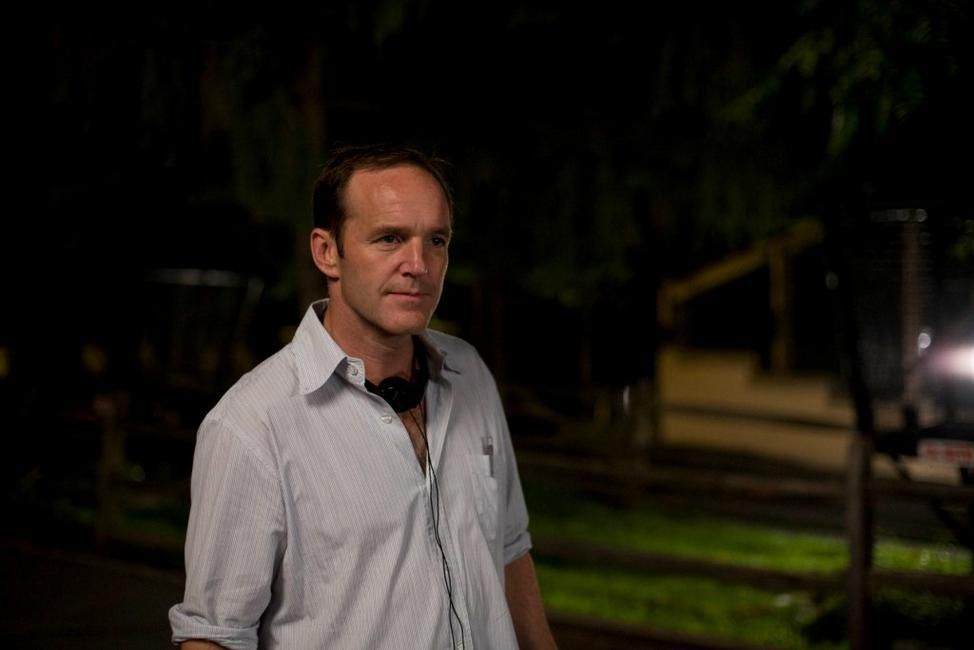 Director Clark Gregg on the set of
