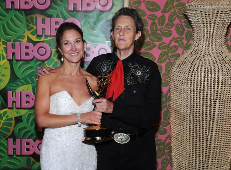 Emily Gerson Saines and Temple Grandin at the HBO's Annual Emmy Awards Reception.