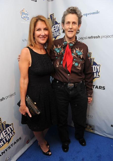Emily Gerson Saines and Temple Grandin at the Comedy Central's Night of Too Many Stars: An Overbooked Concert for Autism Education.