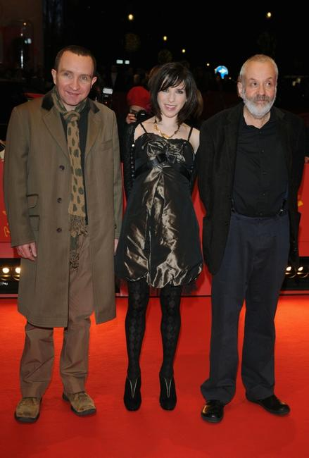 Eddie Marsan, Sally Hawkins and director Mike Leigh at the premiere of