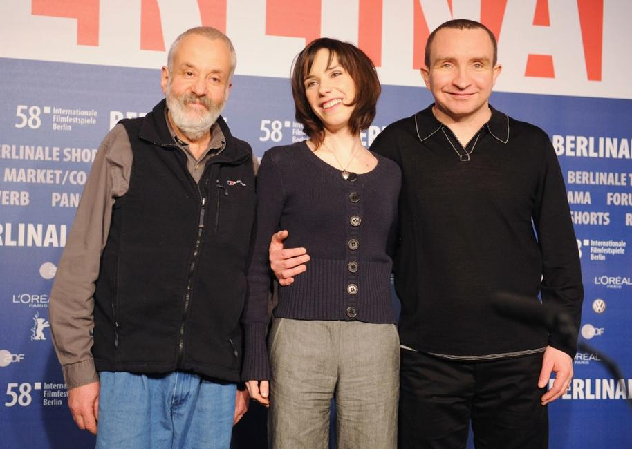 Director Mike Leigh, Sally Hawkins and Eddie Marsan at the photocall of