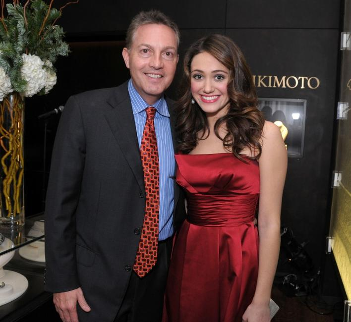 John Kilcullen and Emmy Rossum at the Hollywood Reporter's Power 100 private reception honoring Mikimoto.