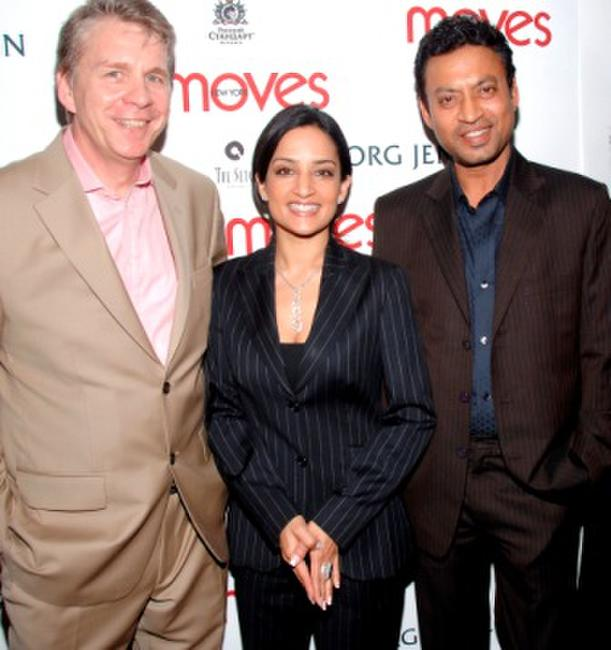 Richard Ellison, Archie Panjabi and Irfan Khan at the party hosted by New York Moves Magazine for the cast of