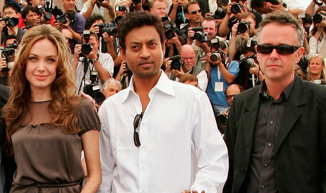 Angelina Jolie, Irfan Khan and Michael Winterbottom at the photocall of