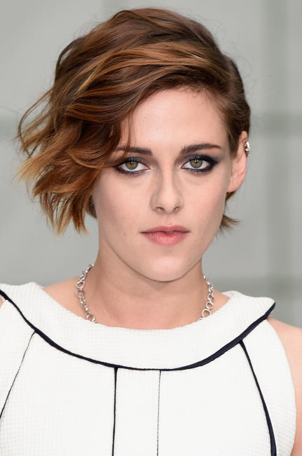 Kristen Stewart at the Chanel show as part of Paris Fashion Week Haute Couture Spring/Summer 2015.