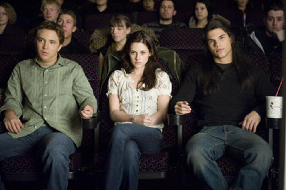 Mike Welch, Kristen Stewart and Taylor Lautner in
