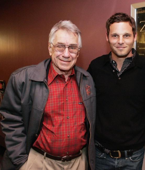 Philip Baker Hall and Justin Chambers at the premiere of